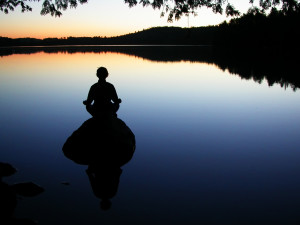 spiritual enlightenment on a lake.